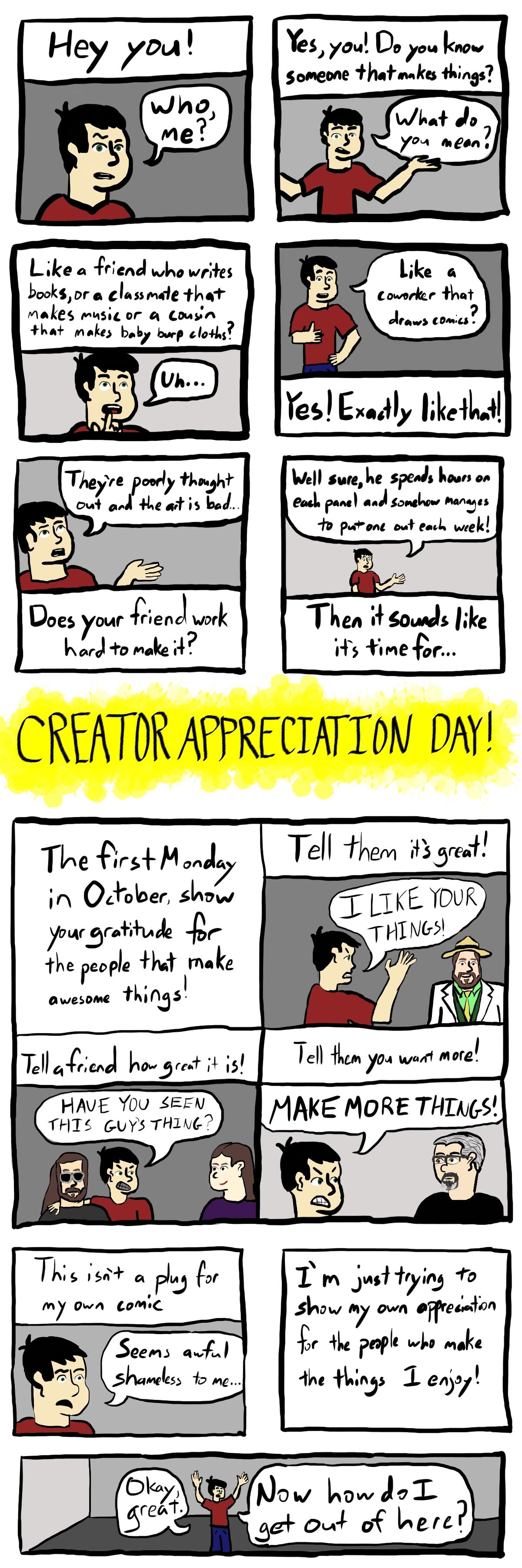 0067 – Creator Appreciation Day